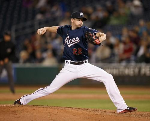 Reno Aces Pitcher ALLEN WEBSTER (22)