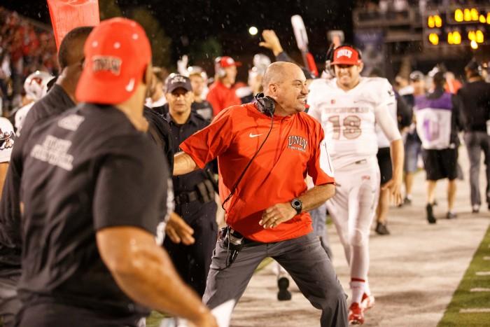 UNLV's Coach Tony Sanchez